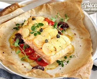 Salmone al forno light con patate