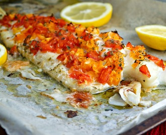 Baked Haddock Fillet with Citrus Salsa