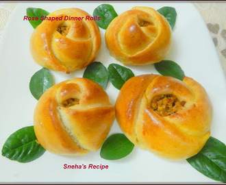 Rose Shaped Dinner Rolls - Turkish Pogaca Pastry#BreadBakers