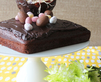 Easter inspired Chocolate Cake with Chocolate Ganache