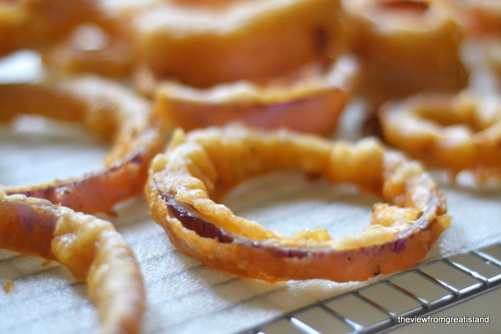 Pumpkin Ale Battered Onion Rings