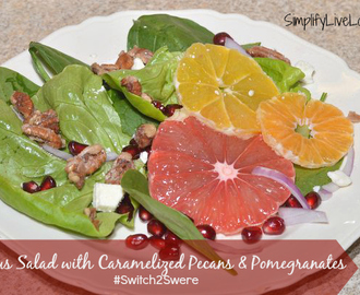 Citrus Salad w/ Caramelized Pecans & Pomegranates ~ #Switch2Swerve