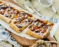 Apple and orange marmalade tart with rosemary and chia seeds