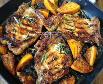 Grilled Orange Rosemary Pork Chop