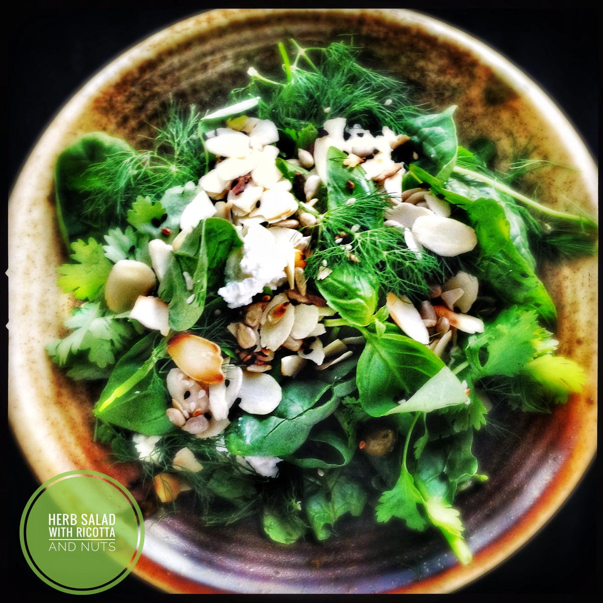 Spinach and Watercress Salad with Ricotta and Seeds