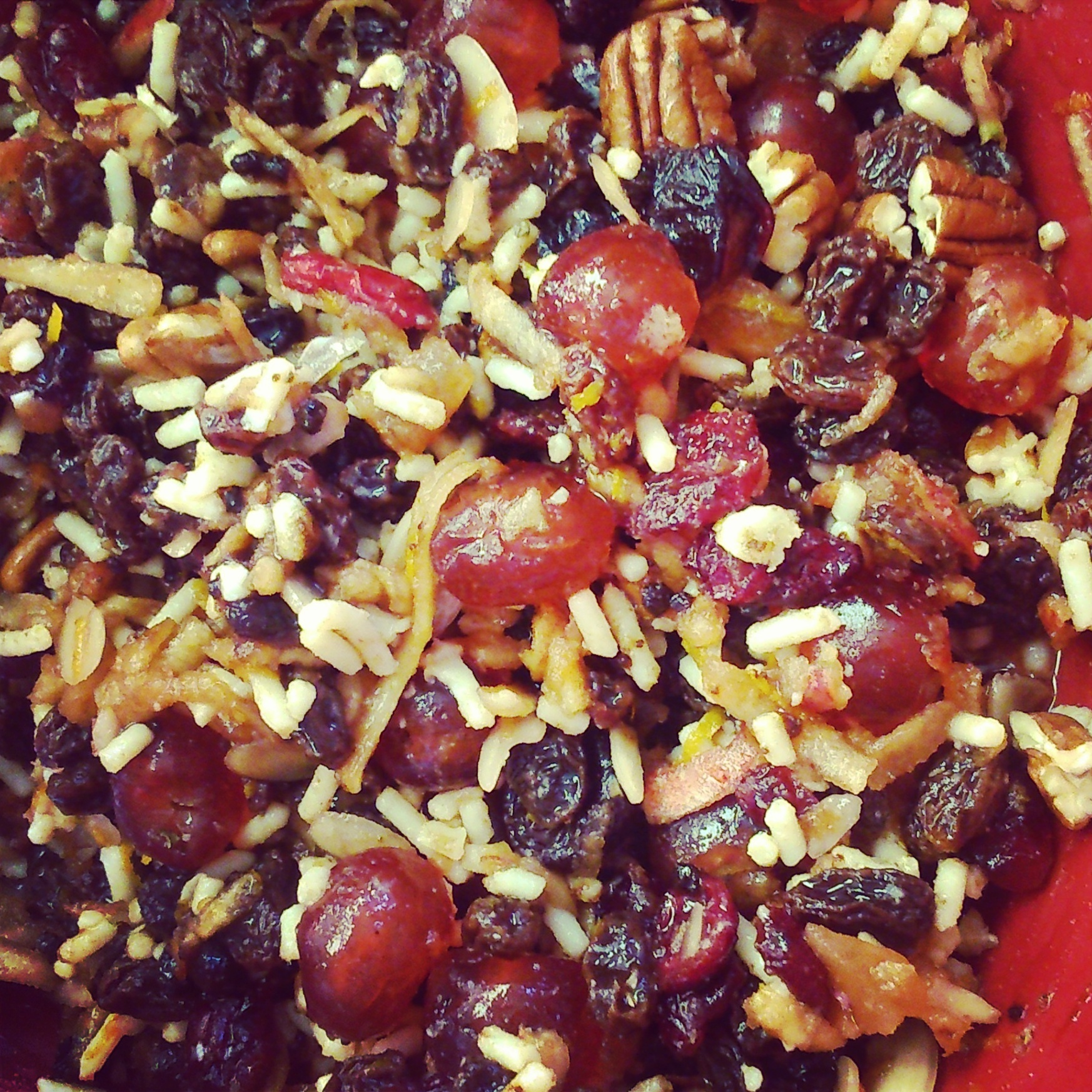 Cherry, Pecan and Ginger Christmas Pudding for Stir Up Sunday