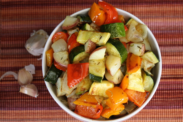 Roasted Vegetables with Balsamic Reduction Glaze