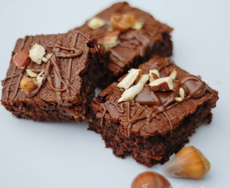 Nutella Karamell Brownies