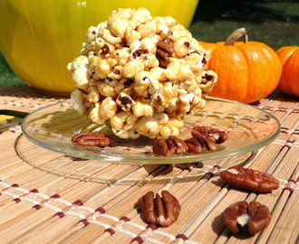 Sea-Salted Sorghum Pecan Popcorn Balls #Recipe #goodcookkitchenexprt