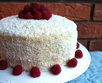 Raspberry Coconut Layer Cake