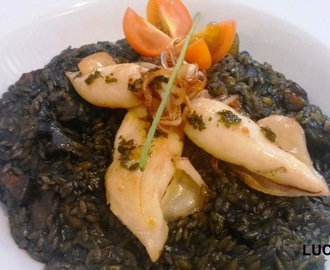 Arroz Negro con Chipirones - Receta Arroz Brillante