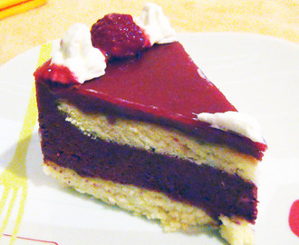 Entremet fruits rouges et cassis
