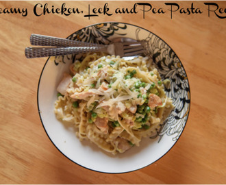 Summertime Lunch Ideas – Creamy Chicken, Leek and Pea Pasta Recipe