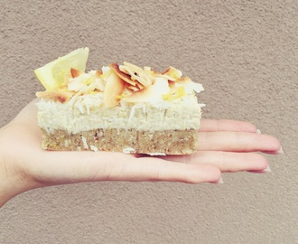 Lemon and Coconut Slice (fructose friendly, refined sugar free & low FODMAP)