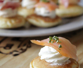 Blini´s met roomkaas