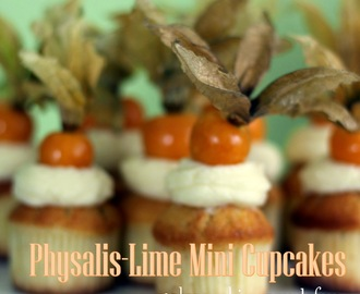 Physalis-Lime Mini Cupcakes / Физалис-Лайм Мини Къпкейкс