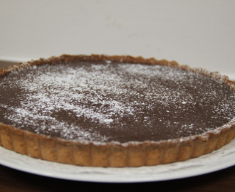 Chocolate and creme fraiche tart