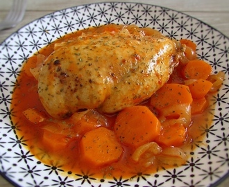 Stewed chicken breast with carrot | Food From Portugal