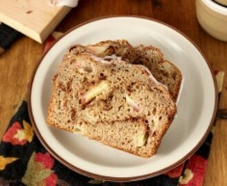 Whole Wheat Cinnamon Swirl Apple Bread