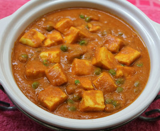 BM #1 - AAE - Day 27 - Mattar Paneer | Cottage Cheese With Peas Curry