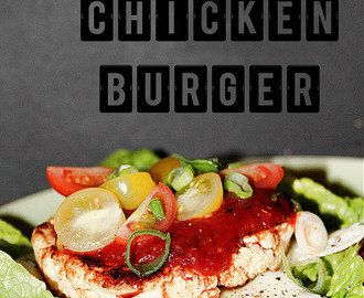 Low Carb Chili Chicken Burger