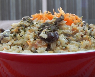 Risoto de arroz integral