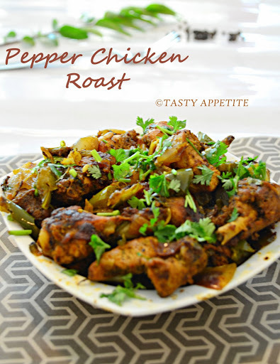 How to make Pepper Chicken Roast / Pepper Chicken / Pepper Chicken Fry: