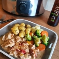 Slow Cooker Creamy Cider Chicken with Skinny Booze