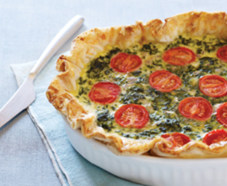 Spinach, Feta, and Tomato Quiche