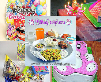 Birthday Party Recipes Menu Ideas – Indian Party Food Items List
