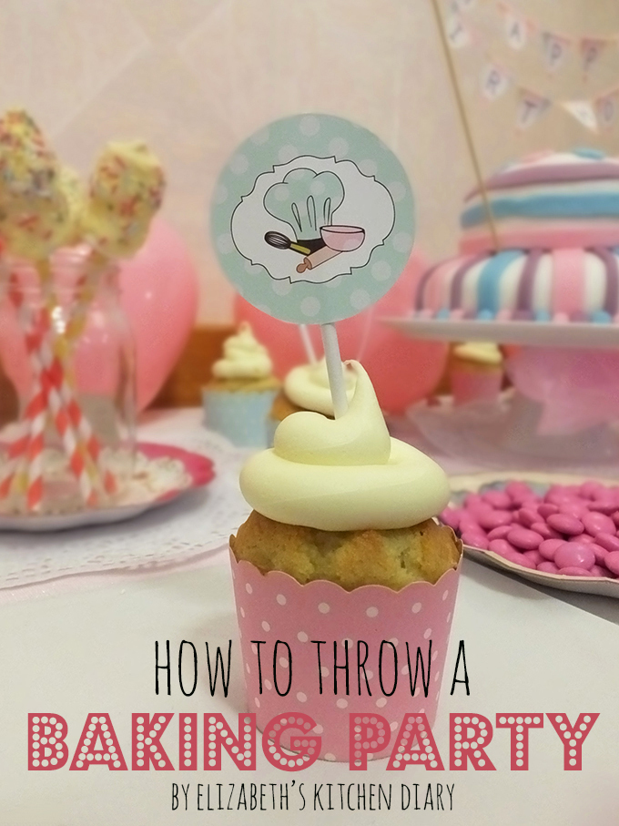How to Throw a Baking Birthday Party – Feather Grey {review & giveaway}