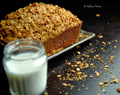 Spiced Pumpkin almond bread with oats streusel topping!