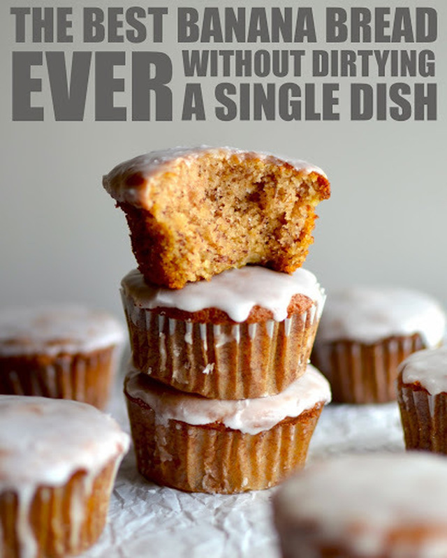 The Best Banana Bread Muffins Ever {Without Dirtying a Single Dish}
