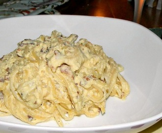 Extreme Budget, Day Sixteen - Linguine Carbonara w/Homemade Italian Bread
