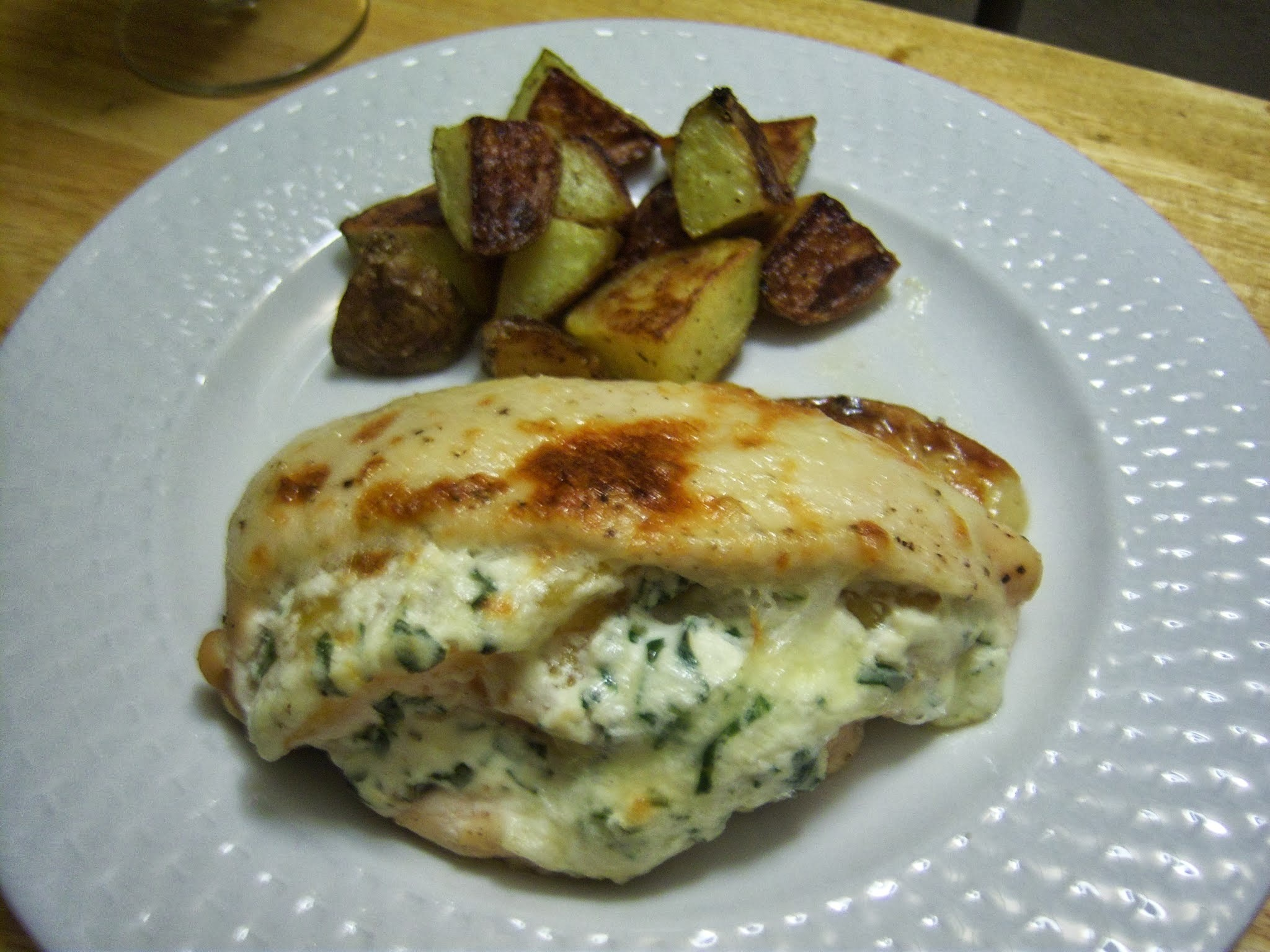 "Pure Canadian Maple Syrup ""Think Outside the Griddle"" Recipe Contest: Maple Glazed Chicken Stuffed with Peaches, Ricotta & Basil Topped with Brie"