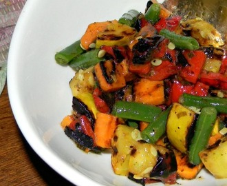 Grilled Vegetables with Pesto Vinaigrette