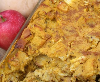 Squash, Apple and Maple Bread Pudding (Dairy Free)