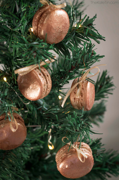 Gingerbread macaron Christmas tree decorations