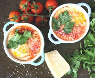 Baked Eggs with Tomato & Chorizo