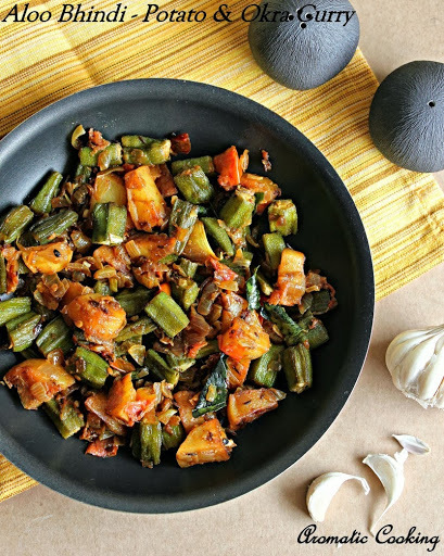 Aloo Bhindi/ Potato And Okra Curry