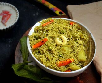 PALAK PULAO RECIPE | PALAK RICE RECIPE | SPINACH PULAO RECIPE