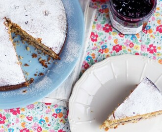 Almond Cake with Blueberry Jam