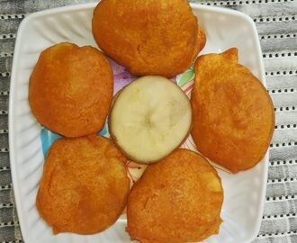 Aloo bajji recipe - How to make aloo bajji recipe - potato bajji recipe