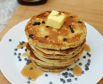 Banana Pancake With Chocolate Chips