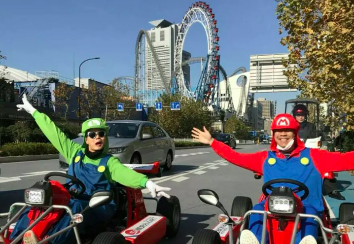 Mario Go Kart and more at the Electric Town in Akihabara, Tokyo