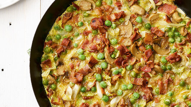Bacon and Cabbage Frittata Recipe