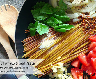 One Pot Tomato & Basil Pasta {A Martha Stewart-Inspired Recipe}
