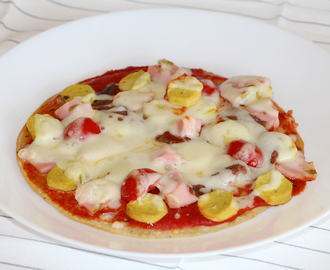 Pizza con base de avena