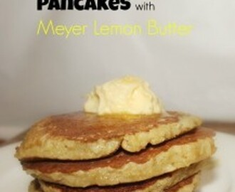 Paleo Banana Pancakes with Meyer Lemon Butter