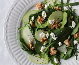 Walnut, apple and feta salad